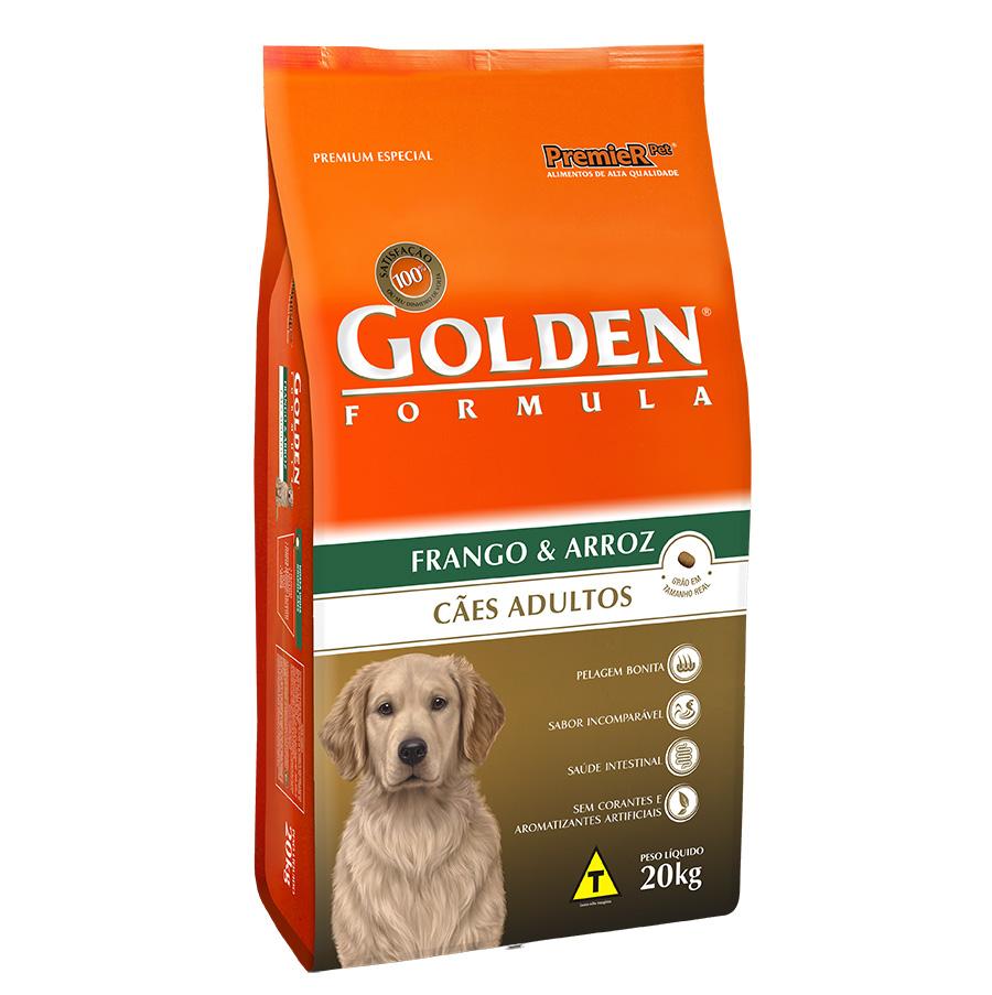 Ração Golden Fórmula Para Cães Adultos Sabor Frango - 20 Kg