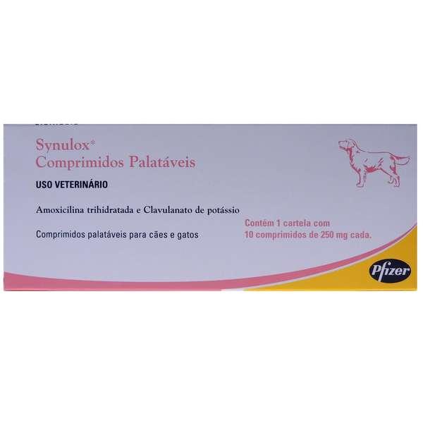 Anti-inflamatório Synulox 250 mg - Zoetis