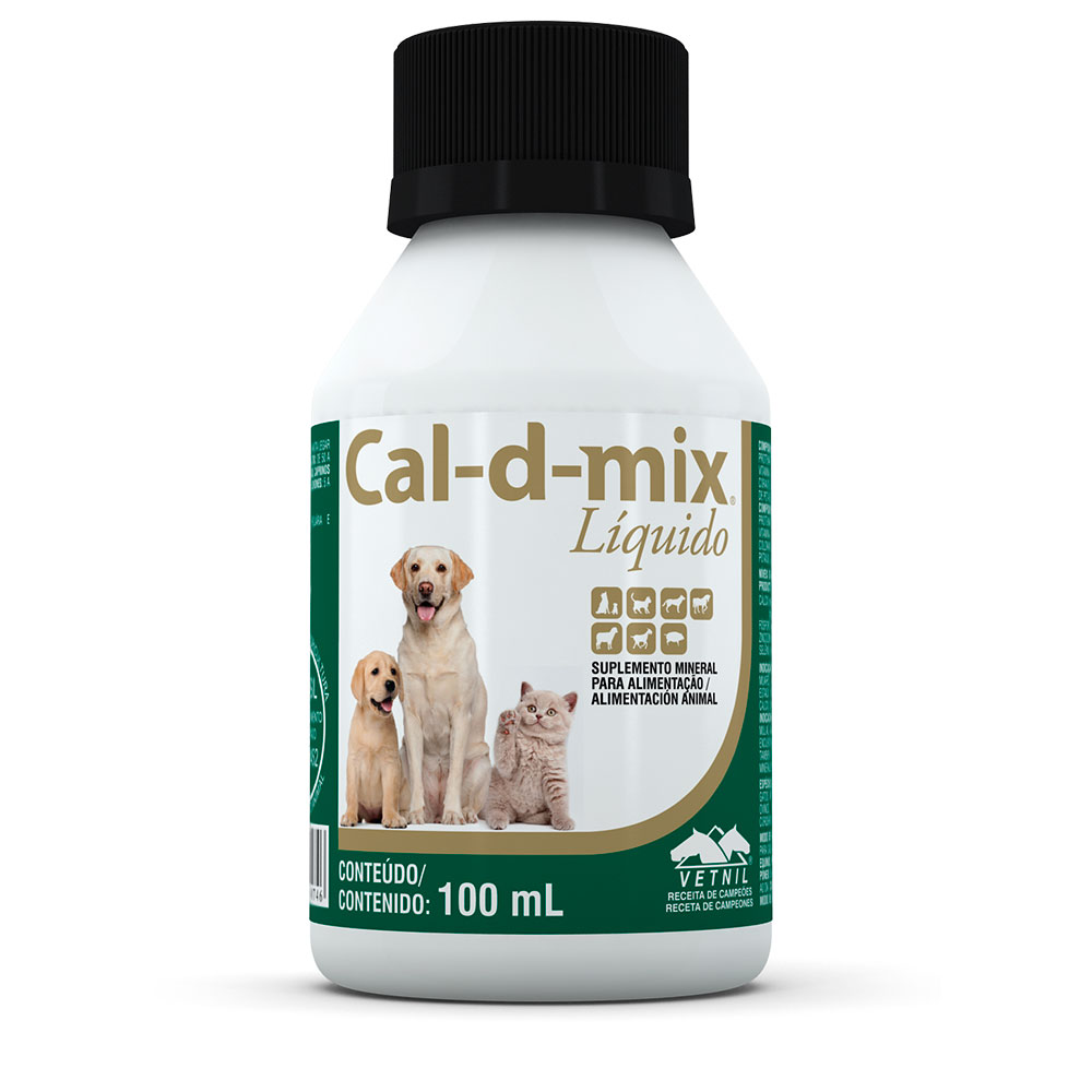 Suplemento Natural Cal-D-Mix 100 ml Vetnil