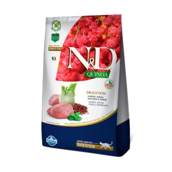 Ração Farmina N&D Quinoa Digestion para Gatos Adultos Cordeiro 400 g