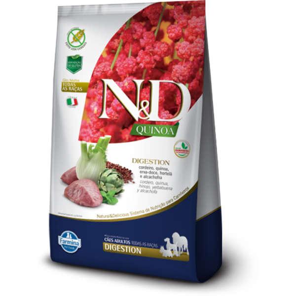 Ração Farmina N&D Quinoa Digestion para Cães Adultos de Todas as Raças Sabor Cordeiro 2,5 Kg