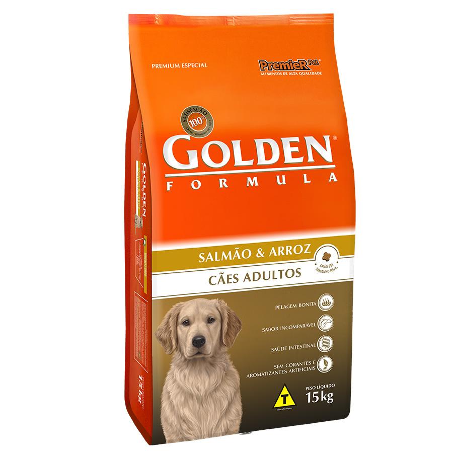 Ração Golden Fórmula Para Cães Adultos Sabor Salmão - 15 Kg