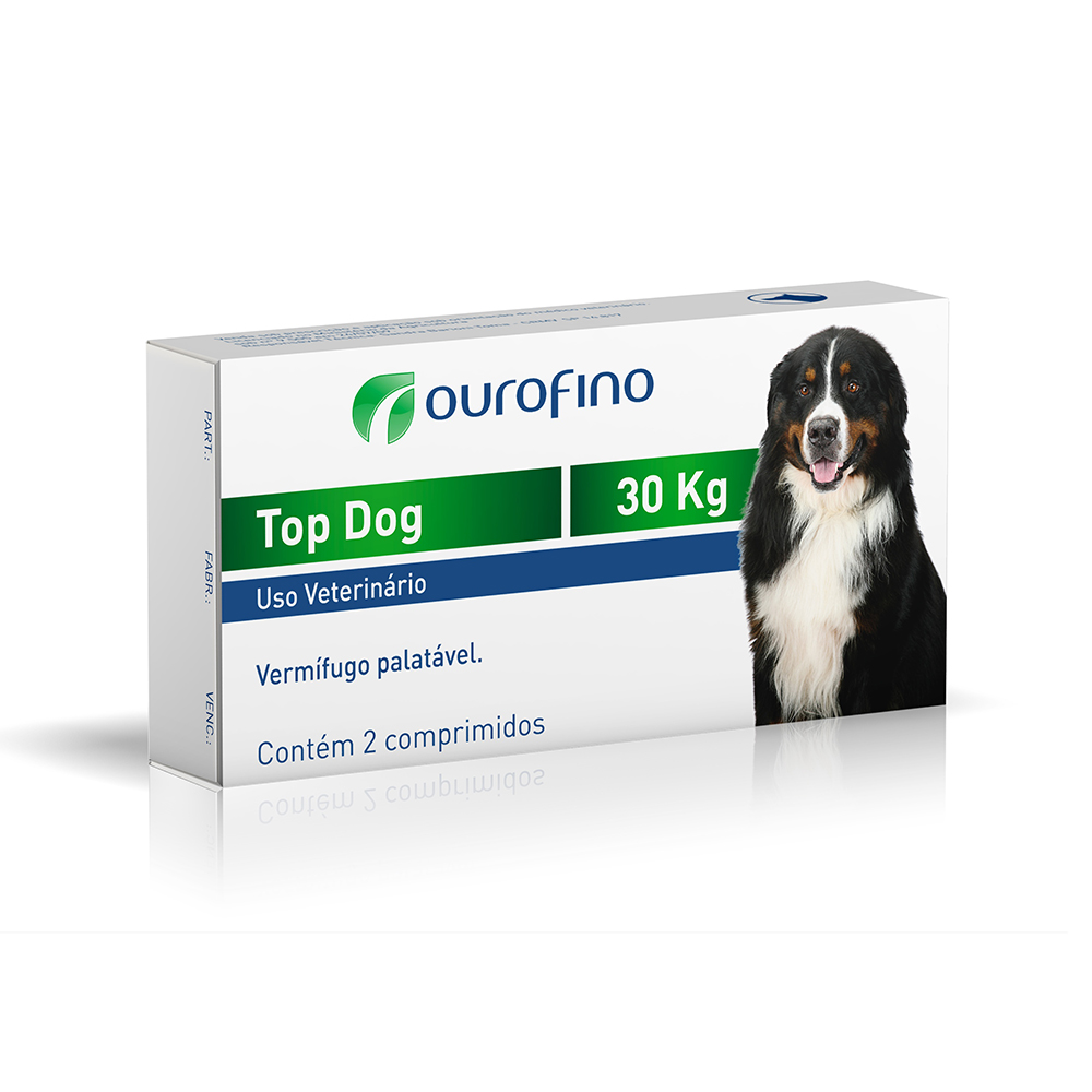 Vermífugo Top Dog 30Kg - Ourofino
