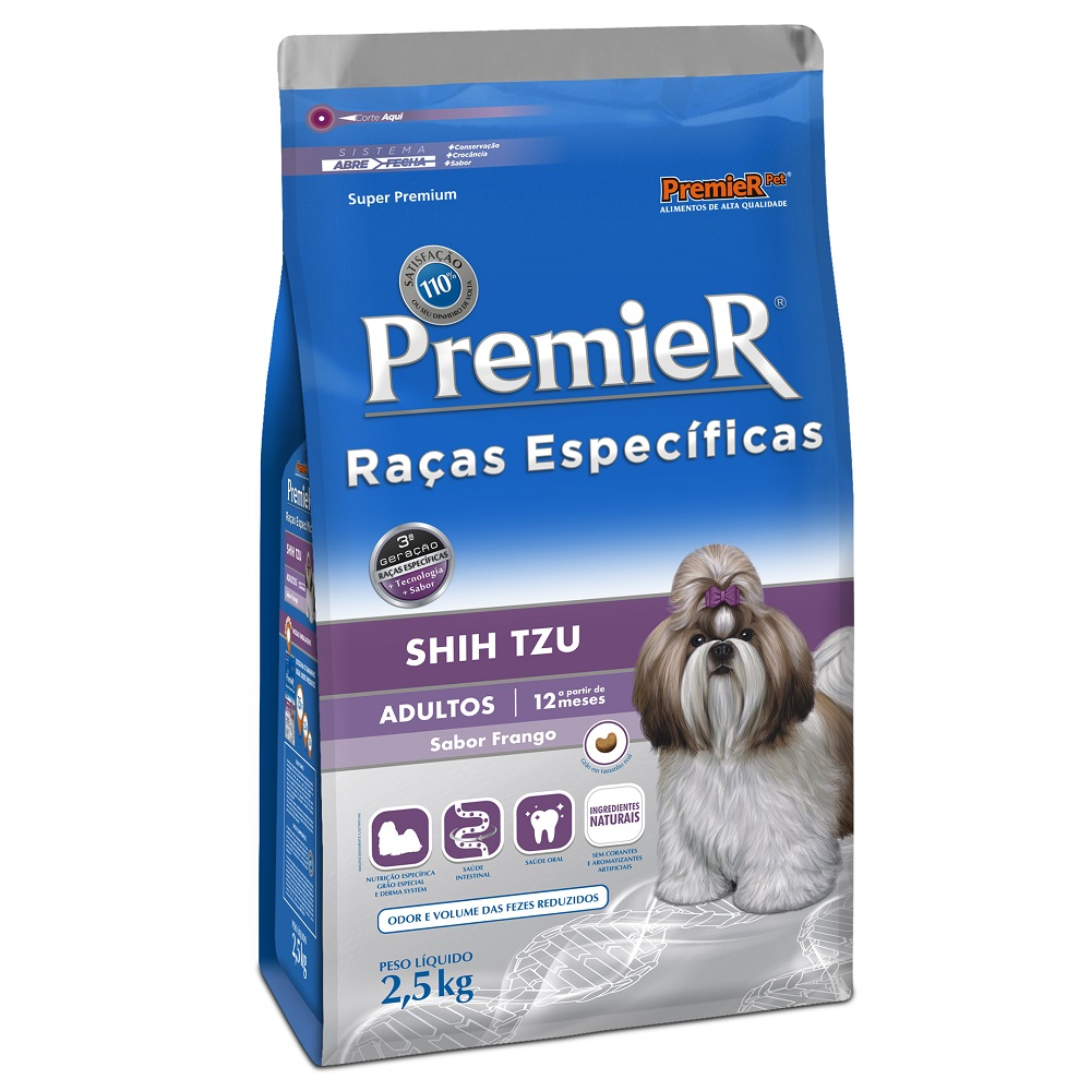 Ração Premier Raças Específicas Shih Tzu para Cães Adultos - 2,5 Kg
