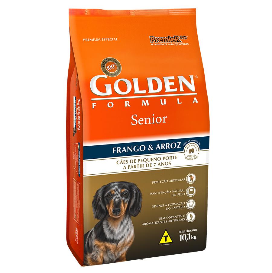 Ração Golden Fórmula Para Cães Senior/Idoso de Pequeno Porte Sabor Frango e Arroz - 10 Kg