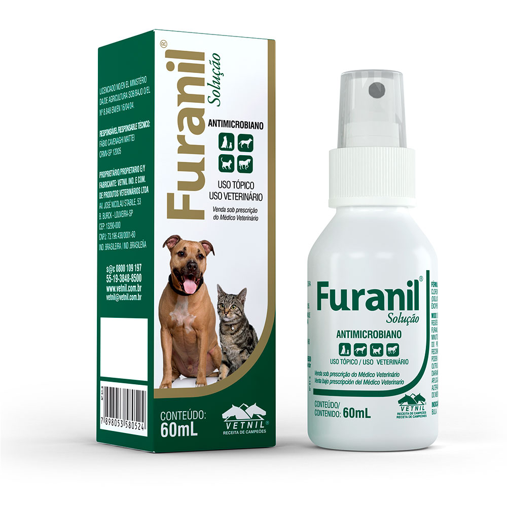Antimicrobiano Furanil Spray 60ml - Vetnil