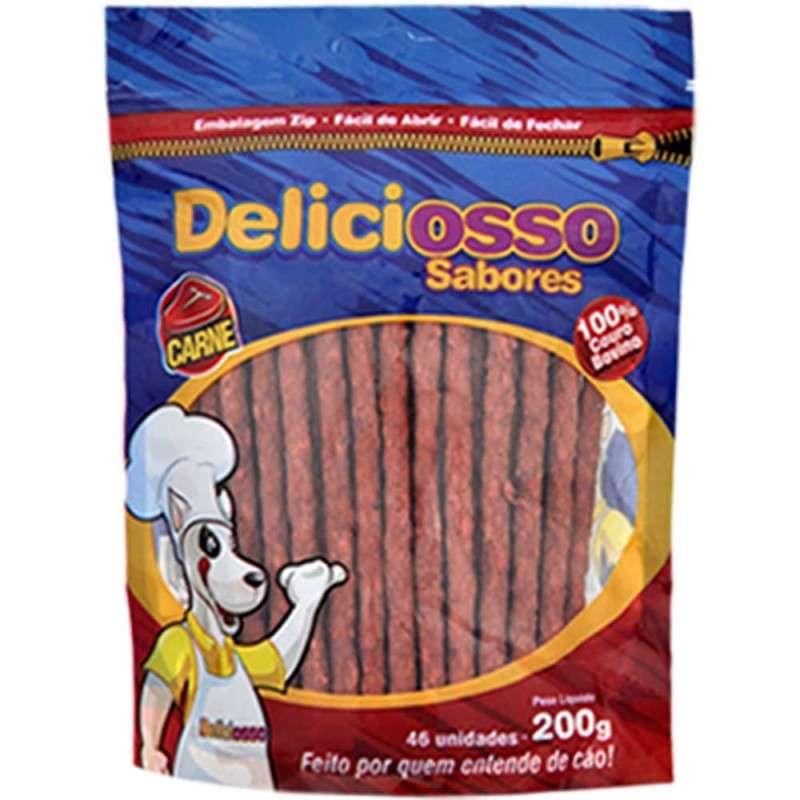 Osso Deliciosso Palito Fino Sabor Carne Para Cães