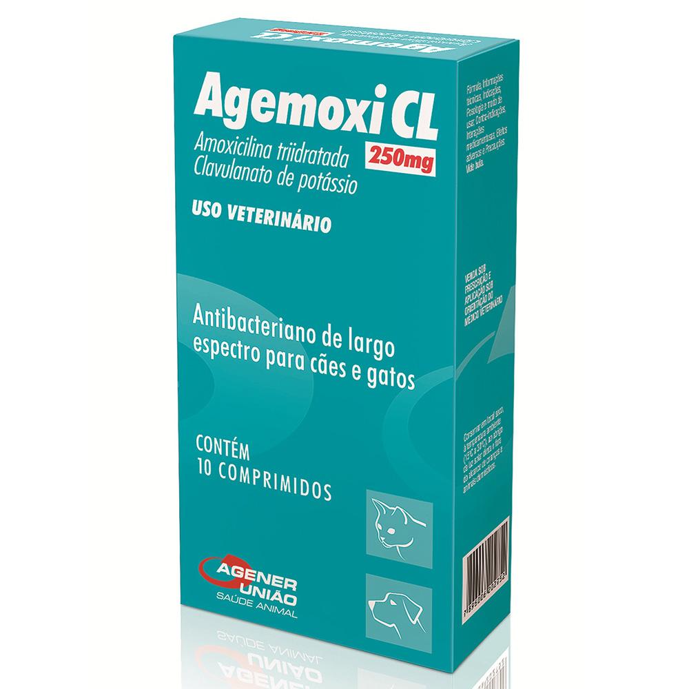 Antibiótico Agemoxi CL 250 mg - Agener União