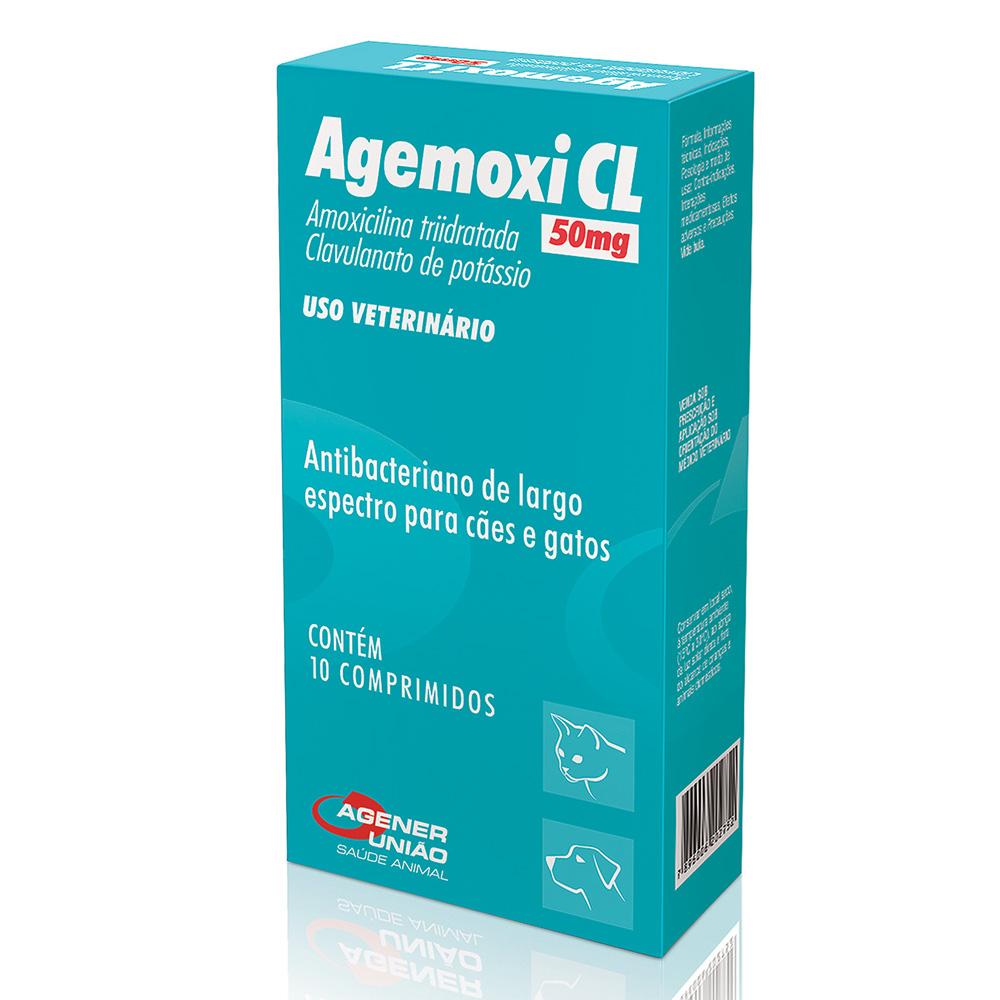Antibiótico Agemoxi CL 50 mg - Agener União