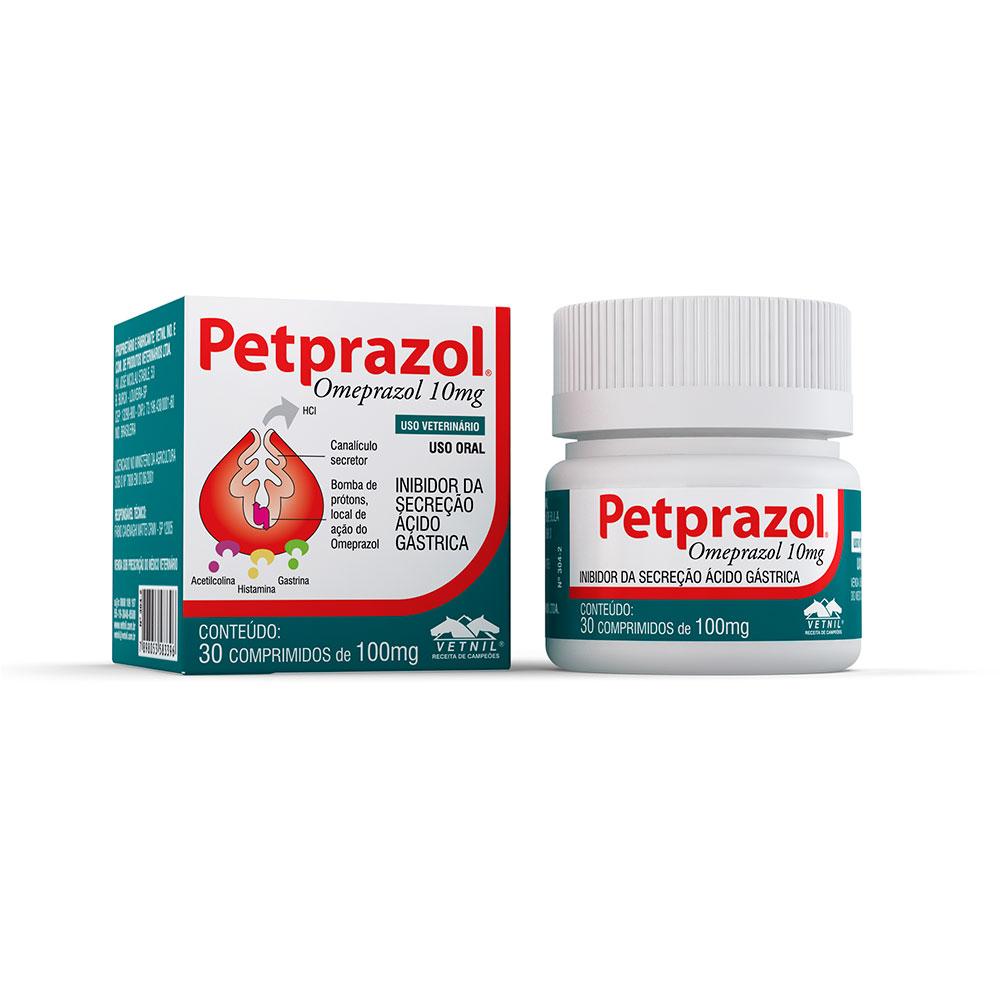 Inibidor de Secreção Ácido-Gástrica Petprazol 10 mg - Vetnil