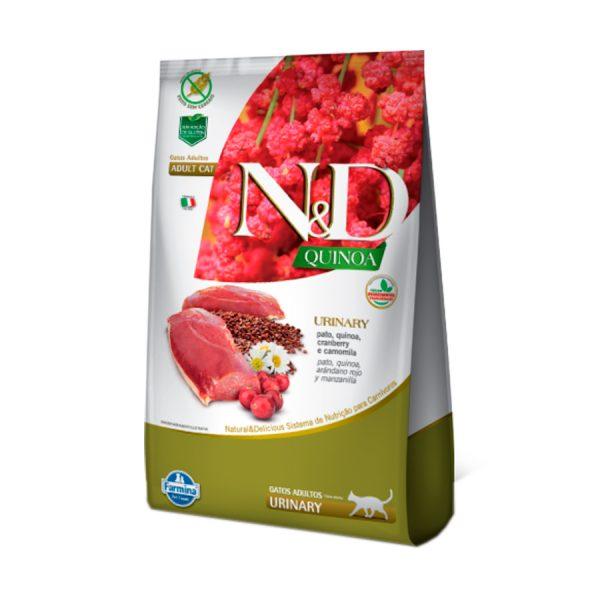 Ração Farmina N&D Quinoa Urinary para Gatos Adultos Pato 400 g
